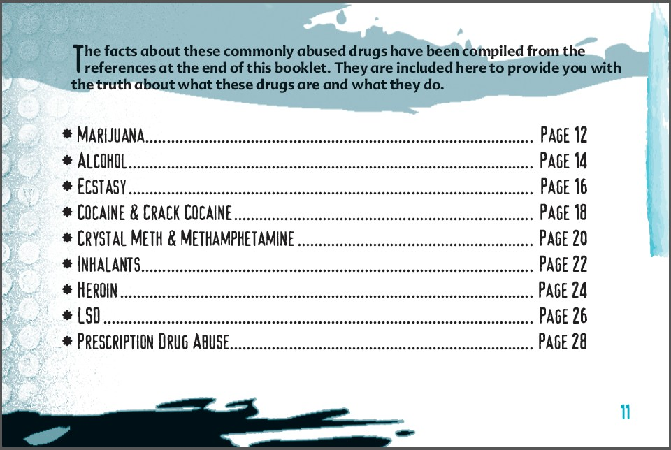 11 truth about drug booklet
