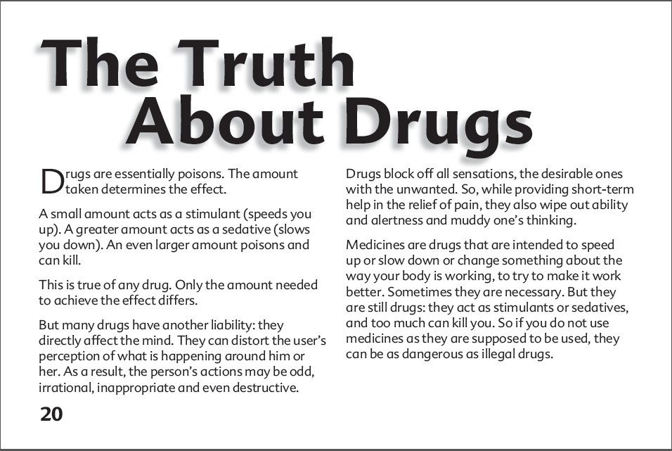 20 The truth about alcohol booklet