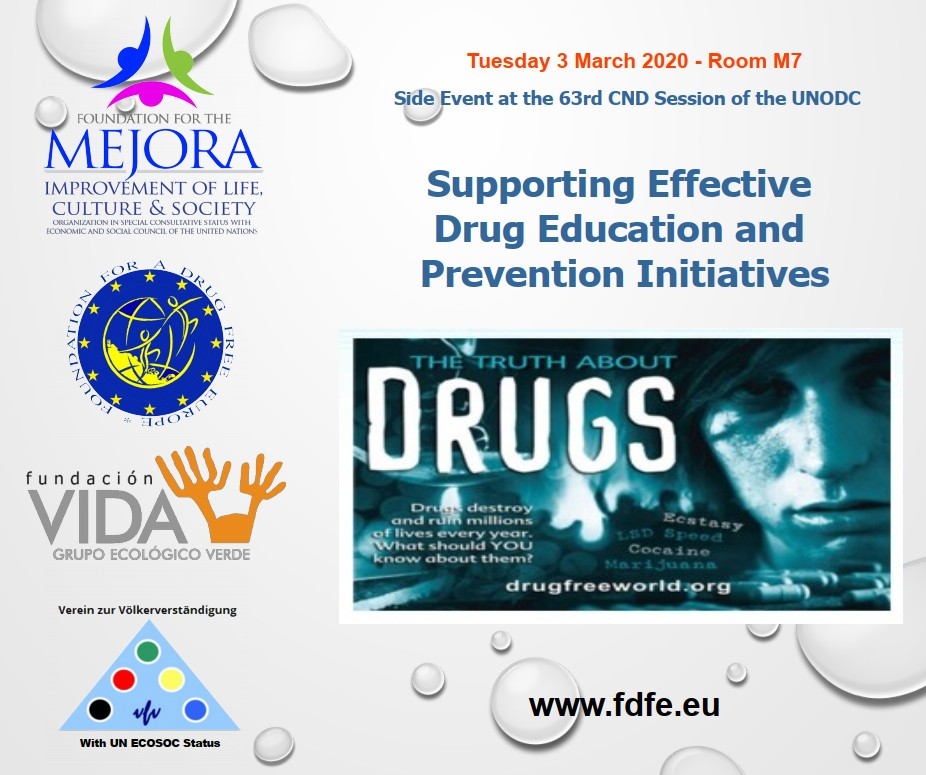 Side Event at the UNODC during the 63rd CND Session -Save the Date!