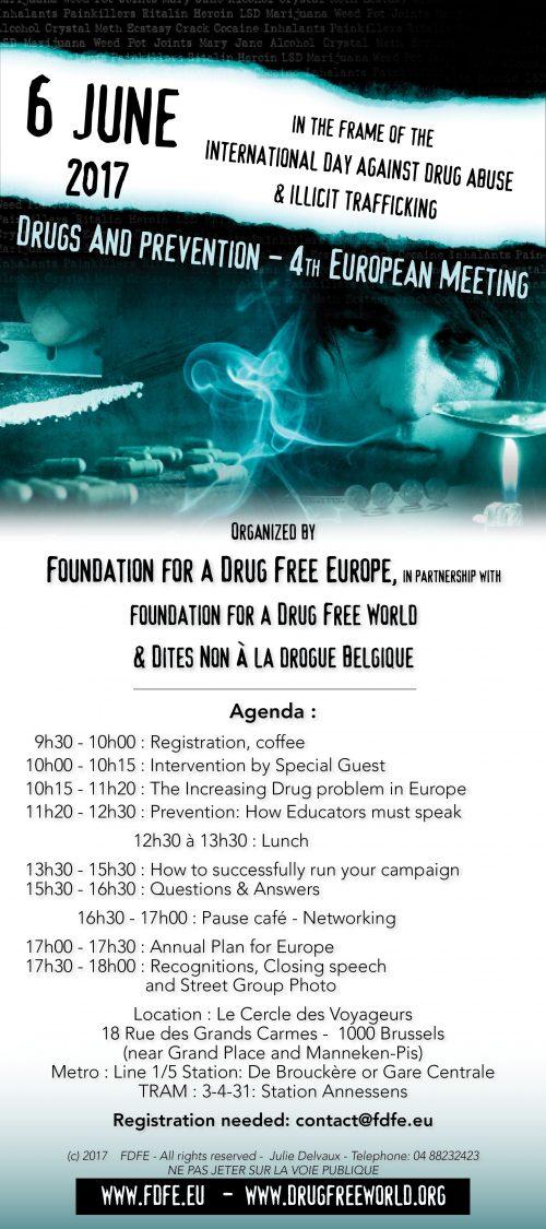 Email 4th European AntiDrug meeting 2017
